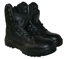 MENS LEATHER UPPER,LACE UP, POLICE ARMY  WORK BOOT IN SIZE 9