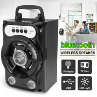 """Portable Party Speaker 8"""" USB Wireless FM Control Loud Bass Sound Rechargeable"""