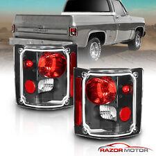 1973-1991 Chevy GM Blazer Suburban Pickup Truck Black Clear Tail Lights Pair