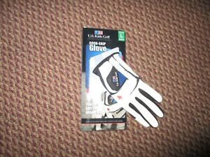 US Kids Golf Good-Grip Youth Junior Golf Glove Size Large Left for RH Player