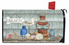 Beachy Vibes Summer Magnetic Mailbox Cover Nautical Rustic Lantern