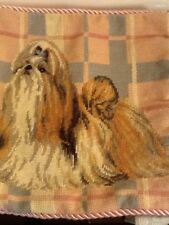 Adorable AKC Needlepoint Pillow Cover The Llasa Apso /Shi Tsu