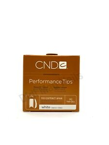 CND PERFORMANCE WHITE TIPS for Acrylic UV Gel Size #1-10 50 Refill