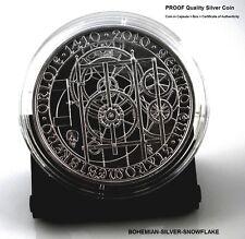 200 Korun 2010 ASTRONOMICAL CLOCK PRAGUE - Czech Republic PROOF Silver Coin