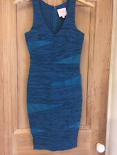 Romeo And Juliet Couture Electric Blue Fitted Dress Size Small - Lush!