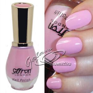 Glossy Baby PINK Nail Polish Varnish by Saffron London #15 Blossom