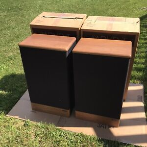 """Advent Legacy 10"""" 2-Way Floor Speakers Refoamed Woofers With Original Boxes"""