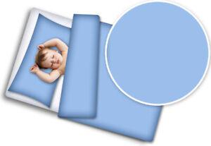 2PC BABY BEDDING SET COTTON 120x90 PILLOWCASE DUVET COVER FIT COT Blue
