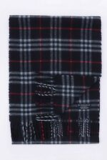 GENUINE BURBERRY 100% LAMBSWOOL BLUE CHECK VINTAGE SCARF MADE IN ENGLAND