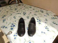 chaussures femme 37 cuir noir avec perle