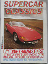 Supercar Classics Autumn 1983 featuring Ferrari 365 Daytona, Maserati Khamsin