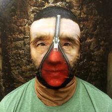 3d Negro Pelo Cremallera Sangriento Cara Efecto Cara Piel Máscara de Lycra