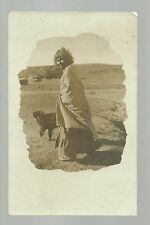 Santa Monica CALIFORNIA RP 1908 INDIAN WOMAN & DOG Desert Indians NICE!