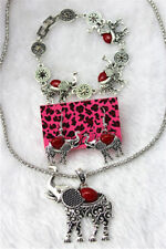 Betsey Johnson jewelry sets Elephant pendant earrings necklaces Bracelet YY826