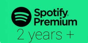 Spotify premium 2 years plus