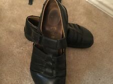 Birkenstock Slip-on Black Leather Mules Size 38 Unisex L7 M 5 Made in Germany