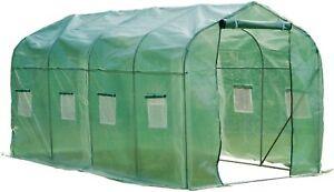 4m x 2m x 2m Garden Greenhouse Polytunnel Walk-in Steel Frame Patio Outside