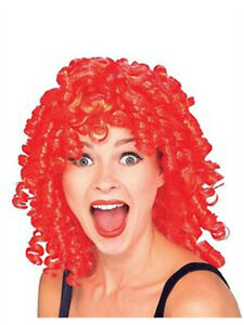Women's Red Curly Top Ringlet Clown or Loopsy Doll Costume Wig
