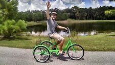 Six Speed Adult Tricycle Green Brand New Big Seat & Large Basket Easy To Ride!