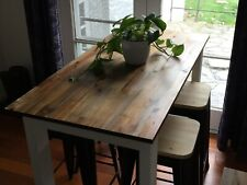 Kitchen Island Breakfast Bar Table Hardwood Solid Timber Industrial BRAND NEW