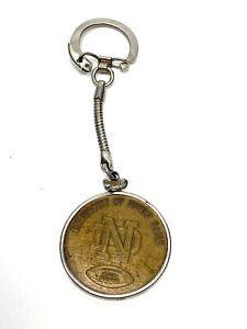 Vintage1966 Notre Dame Brass Keychain National Champions Football Fighting Irish