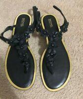 New MICHAEL KORS black thong sandals US Sz 6.5 M