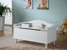 Kings Brand Furniture - Applegate Storage Bench Toy Chest, White