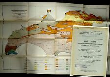 Geological structure and Oil deposits of the Kertch Peninsula Map CRIMEA Russian