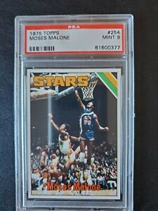 1975 Topps Basketball Moses Malone ROOKIE #254 Card PSA MINT 9 THE ONE TO OWN