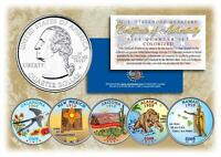 2008 COLORIZED US MINT STATE QUARTERS * Complete Set of 5 Coins * with Capsules