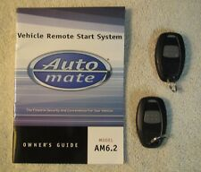 New listing AutoMate Vehicle Remote Start Fob's & Booklet