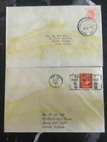Fantastic Lot 2 Hong Kong First Day Exhibition Covers Definitive Stamps 55 & 73