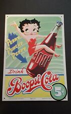 Betty Boop Metal Hanging Sign Plaque Boopsi Cola Vintage Collectable Usa Seller