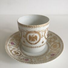 HAVILAND Décor AIGLE AUX FOUDRES Tasse à Café Porcelaine Limoges Style Empire