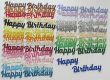 25 Découpes en papier _ HAPPY BIRTHDAY 7,5 et 5,5cm _ Die cut scrapbook carterie