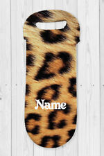 Personalised Leopard Print Water Bottle Cooler Carry Bag