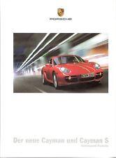 Prospekt / Brochure Porsche Cayman und Cayman S 05/2006