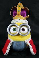"Thinkway Toys Minions Movie Electronic 15"" Plush Talking King Bob Toy Used"