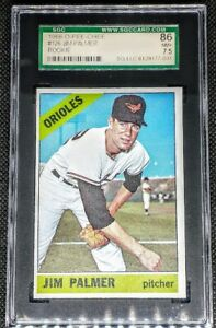 Jim Palmer 1966 OPC O-Pee-Chee RC Rookie SGC 7.5 POP 1 Only 2 SGC Graded Higher
