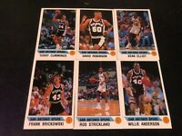 1990-91 Panini Stickers San Antonio TEAM SET (6) David Robinson