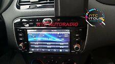 """Autoradio 6"""" Touch Android 10 Fiat Punto Evo Navigatore Wifi GPS Comandi Volante"""