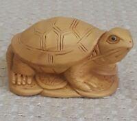 Rare Vintage Chinese Boxwood Longevity Turtle Statue Hand Carve