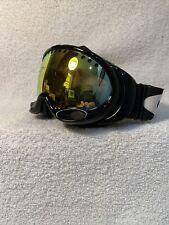 Oakley Goggles Black Mirrored Lens Snow Ski Snowboarding A Frame