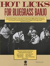 Hot Licks para Bluegrass Banjo Tony Trischka 5 Cuerdas TAB Libro de Música