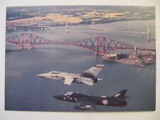 Hunter T7 & Tornado Fs over the Firth of Forth - Dennis Aircraft Postcard