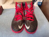 Pair of Black/Red Nike Air Gym Shoes (Size 11-12 Mens)