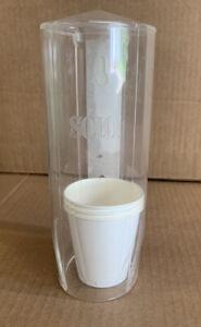 VTG/Retro Solo Clear Bathroom Cup Dispenser