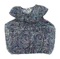 New Look Blue Paisley Womens Top Size 14 (Regular)