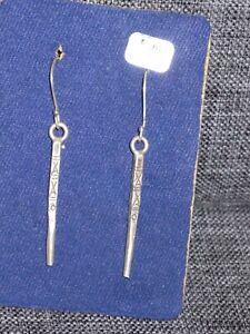 Ohrringe, Ohrhänger, Einzelstücke, 925 Silber, lang, Muster