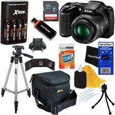 Nikon COOLPIX L340 20MP Digital Camera, 28x Zoom +Charger +64 GB Kit Refurbished